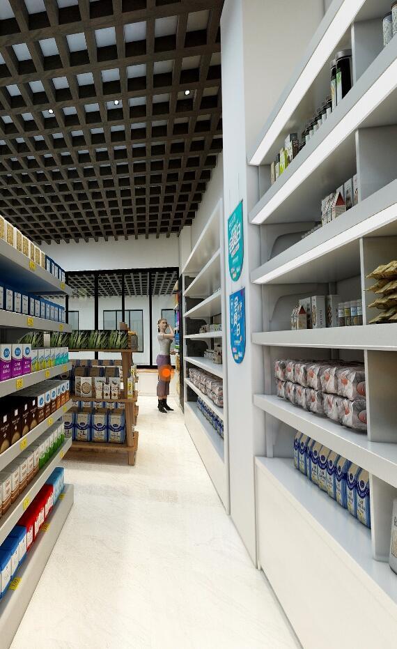 超市日用品专卖设计装修风格效果图