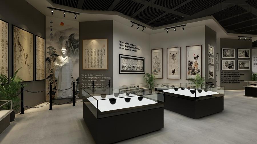 复古文化历史展品展区装修设计风格